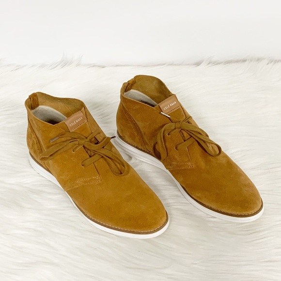 Cole Haan Shoes - Cole Haan | Grand OS Mustard Suede Chukka Boot